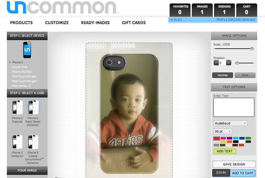 Uncommon customized iPhone case