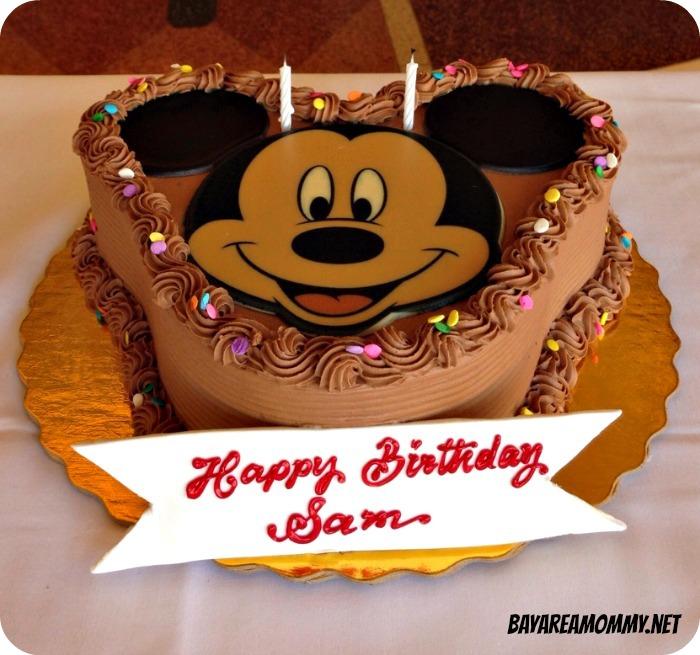 Chocolate Mickey Mouse Birthday Cake