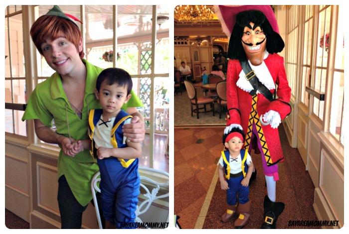Peter Pan & Captain Hook - Disneyland Plaza Inn character breakfast
