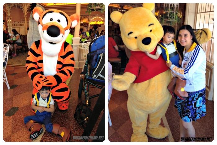 Tigger & Winnie The Pooh - Disneyland Plaza Inn character breakfast