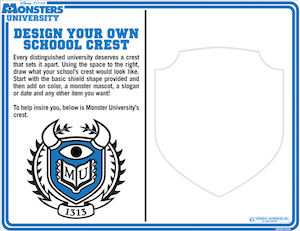 MonstersU Design Crest