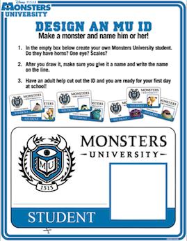 MonstersU - ID Card