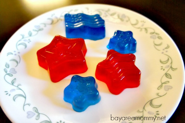 July 4th Red White & Blue Jell-o