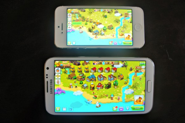 Sprint Samsung Galaxy Note II and iPhone 5