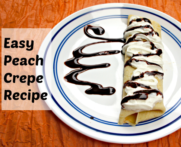 Peach Crepe Recipe #FreshFinds #shop