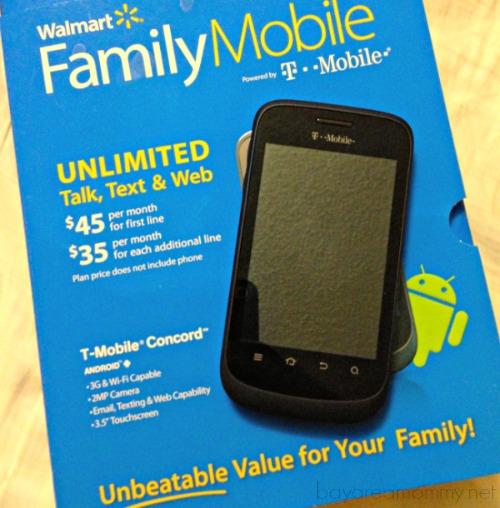 Walmart Family Mobile Concord Phone