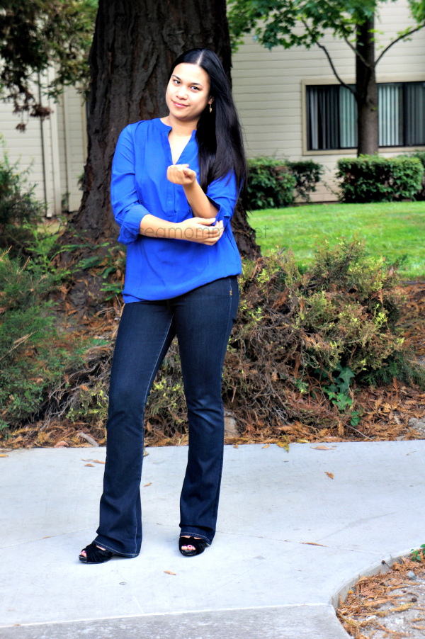 Monroe And Main Placket Tunic with jeans