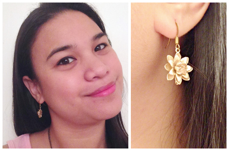 9thandElm.com Blossoms of Lotus Gold Fashion Earrings