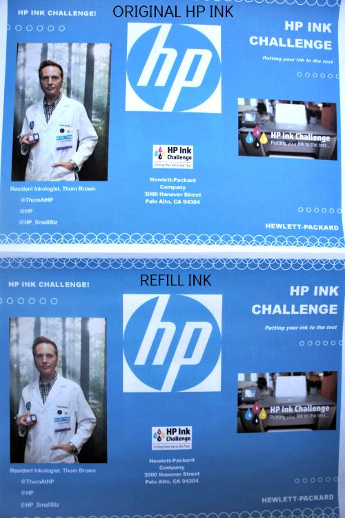 Originak Ink vs Refill Ink #HPInkChallenge #sponsored