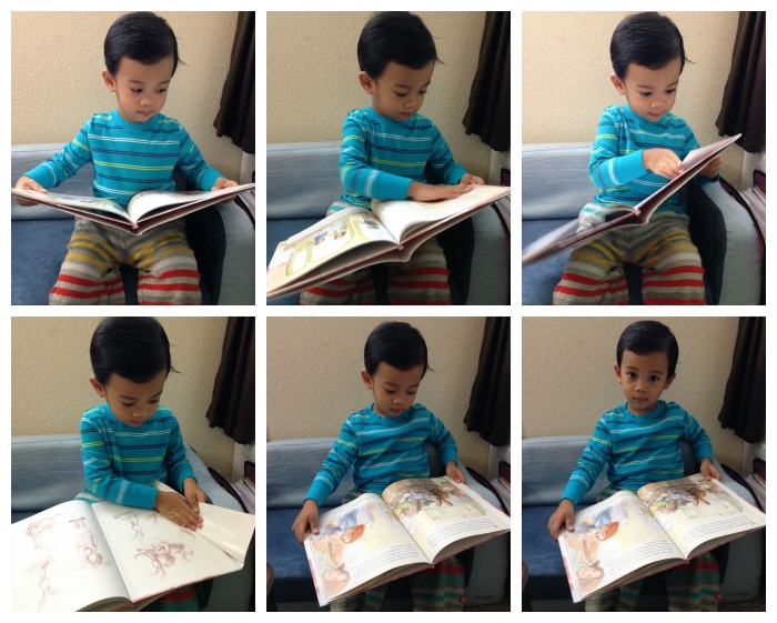 Sam reading Audrey Bunny
