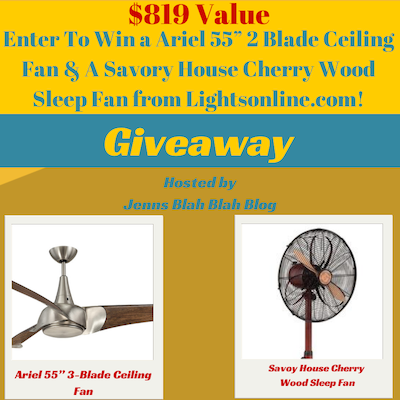 Ceiling Sleep Fan Giveaway