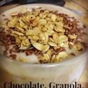 Chocolate Granola Flax Protein smoothie