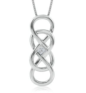 Helzberg Diamonds Infinity X Infinity Necklace