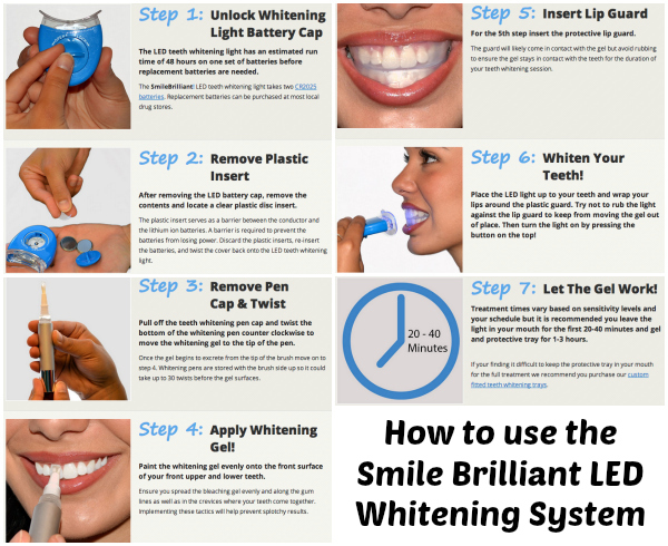 Smile Brilliant Led Teeth Whitening Review Giveaway Bay Area Mommy