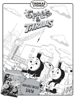Spills & Thrills Coloring Sheet thumbnail