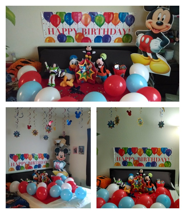 Disney In-Room Celebration at home 2