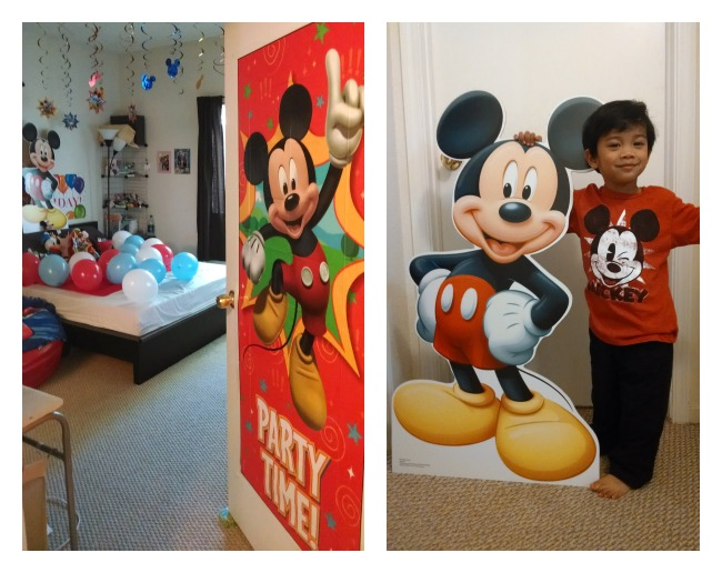 Disney In-Room Celebration at home