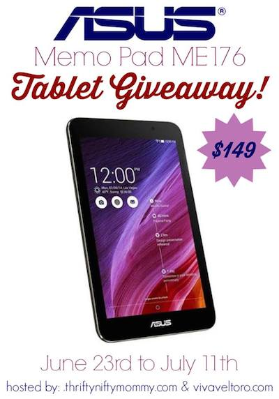 Asus Memo Tablet Giveaway