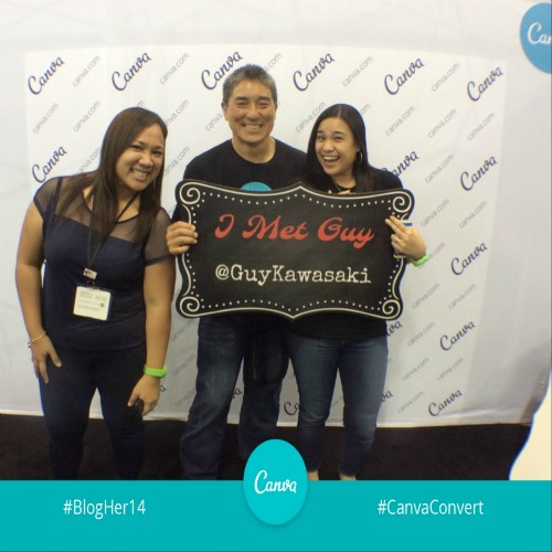 with guy kawasaki at #BlogHer14
