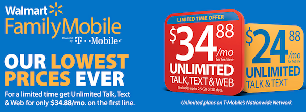 Walmart Family Mobile - lowest prices