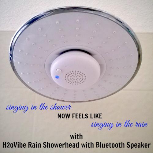 H2OVibe Rain Showerhead Jet with Wireless Bluetooth Speaker