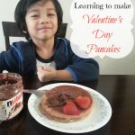 Making Valentine's Day Pancakes With My Toddler