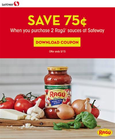 Ragu coupon