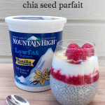Raspberry Yogurt Chia Seed Parfait with Mountain High Yoghurt