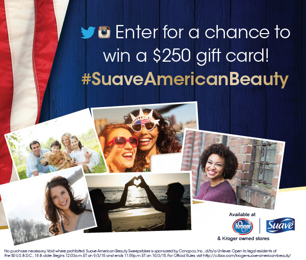 Kroger Suave American Beauty Sweepstakes