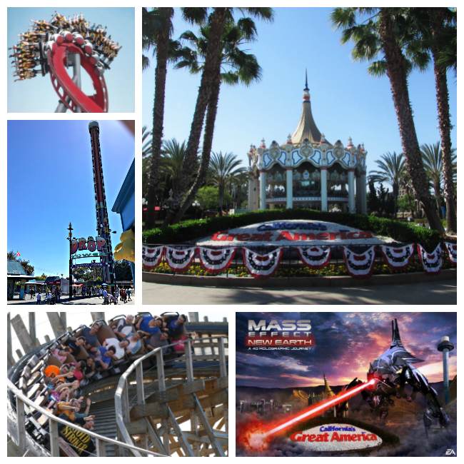California's Great America Rides